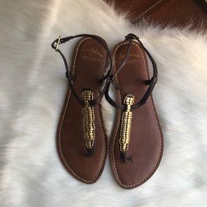 Sam Edelman for American Eagle Gold Beaded Sandals